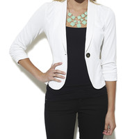 Ruched Sleeve Blazer | Shop Jackets at Wet Seal