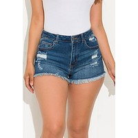 Young And Wild Denim Short