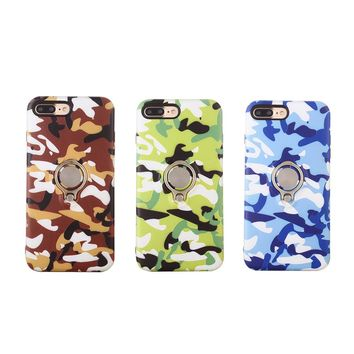 Camouflage Camo Printing Phone Case with Ring Holder