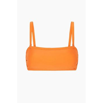 Lleo Eden Bandeau Bikini Top - Citrus Orange