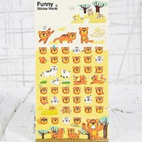 Tiger Puffy Stickers - Urban Outfitters