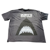 Inspired By Jaws T-Shirt - Quints Shark Fishing Grey