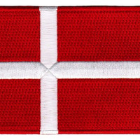 Denmark Flag Embroidered Patch Danish Iron-On National Emblem