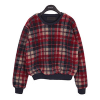 Soft Textured Check Pullover by Stylenanda