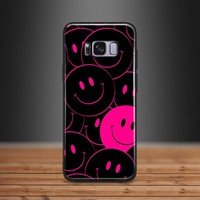 Smiley face Smile Pattern print Art TPU Soft Silicone Phone Case Shell Cover For Samsung S7 Edge S8 S9 Plus Note 8 9