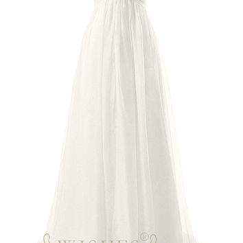 casual wedding dress/ Beaded Bodice Bridal Gown With Corset Back AM557