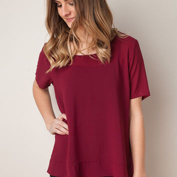 Troubled Minds Maroon Top