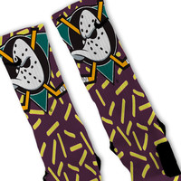 Mighty Ducks Customized Nike Elite Socks