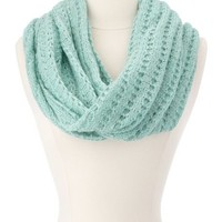 Lurex Knit Infinity Scarf: Charlotte Russe