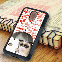 Cats heart Love Umbrella   For Samsung Galaxy S6 Cases   Free Shipping   AH1128