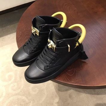 Buscemi Women's Leather Fashion High Top Sneakers Shoes