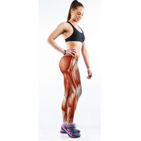 3D Muscle Hight Waist Casual Sports Yoga Elastic Pants + Free Shipping