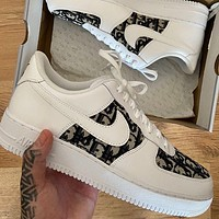Hipgirls Nike Air Force 1 x Dior Knitted Air Force One Sneakers Shoes