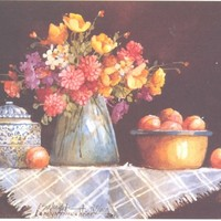 Still Life with Flowers IV 6 x 7.5 lithograph