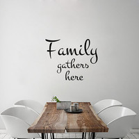 Wall Decals Family Quote Decal Vinyl Sticker  Decal Home Decor Bedroom Dorm Living Room MN 133