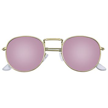 New Fashion Men Women's Round Sunglasses Vintage Retro Mirror Glasses