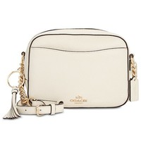 COACH Camera Bag in Polished Pebble Leather Handbags & Accessories - Macy's
