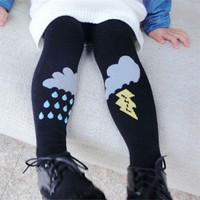 Cute Rain Weather Tights Cotton Children Baby Girls Winter Stockings Kids Toddler Pantyhose For 0-5 Years