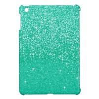 Diamond Bling Glitter, Shiny Color- Turquoise Case For The iPad Mini from Zazzle.com