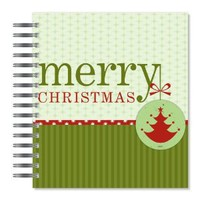 ECOeverywhere Merry Christmas Picture Photo Album, 18 Pages, Holds 72 Photos, 7.75 x 8.75 Inches, Multicolored (PA18171)