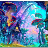 """1x Poster Psychedelic Trippy Colorful Ttrippy Surreal Abstract Astral Digital Art Office Home Room Wall Deco 35.5x23.5"""" (90x60cm) (002)"""