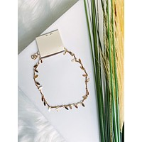 Gold Leaf Chain Ankle Bracelet