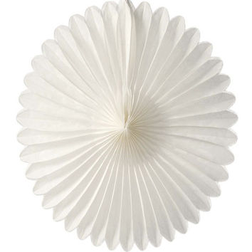Small Snow White Hanging Paper Fan