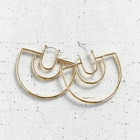 18k Gold Plated Geo Hoop Earring