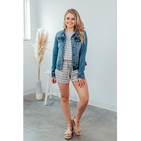Wherever You Are Romper-Heather Grey/Ivory