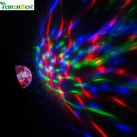 2 in 1 Disco Light DJ Rotating RGB LED Stage Light Crystal Ball Lamp with Cool White Flashlight for Party Halloween Christmas