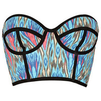 Ikat Print Bralet - Rave New World  - Collections
