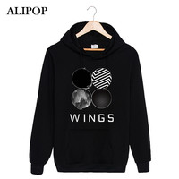 ALIPOP Kpop Korean Fashion BTS Bangtan Boys 2ND Album WINGS Cotton Hoodies With Hat Clothes Pullovers Sweatshirt PT339