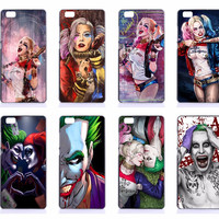 Suicide Squad Skull SUCKER FOR PAIN Harley Quinn Joker Pattern Hard PC Cases Covers For Huawei Ascend P8 P9 Lite P9 Plus P7