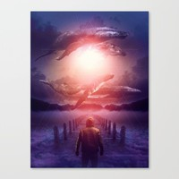 The Space Between Dreams & Reality Canvas Print by soaring anchor designs