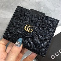 GUCCI New fashion leather wallet purse handbag Black