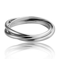 New Hot Sales Fashion Jewelry Twiste Ring for  Women Stainless Steel Silver Rings For Women Lady Gift OCS0261