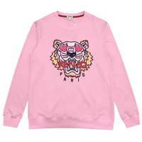 KENZO WomenFashion Tiger Round Neck Pullover Top Sweater
