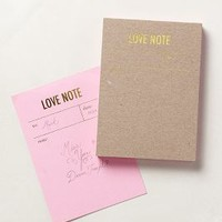 Letterpress Notepad by Anthropologie Love Notes One Size House & Home