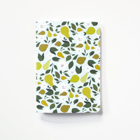 Medium Journal | Hand Illustrated Floral Notebook with Pear Motif