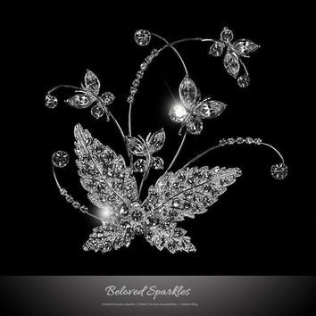 Moreen Butterfly Bloom Hair Clip | Swarovski Crystal
