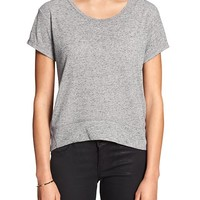 Banana Republic Womens Factory Hi Lo Raglan Tee