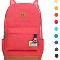 ♡ Super Cute Cat Ears School Backpack Teen Back to School ♡
