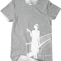 Litograph t-shirt created entirely from the text of The Great Gatsby