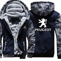 Winter Korean new arrived plus velvet Peugeot sweatshirt thickening coats clothes male casual jackets