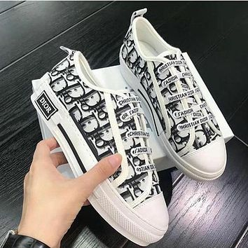 Dior Walk'n'dior Sneaker In Oblique Embroidered Canvas Shoes