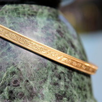 Graceful Gold Arm Cuff for Upper Arm