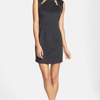 Hailey by Adrianna Papell Studded Cutout Scuba Body-Con Dress | Nordstrom