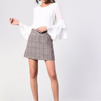 **Check Skirt by Glamorous Petites | Topshop