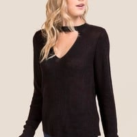 Moore Keyhole Pullover Sweater