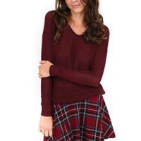 Plaid High Waisted Skater Skirt